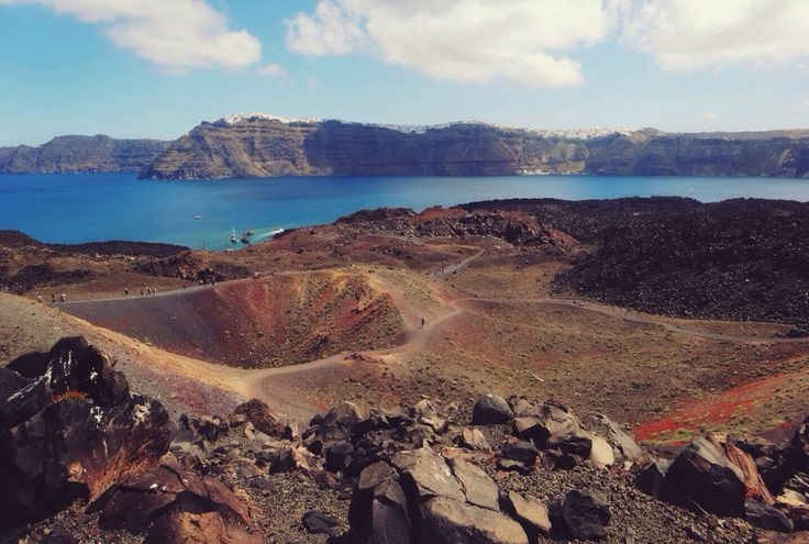 Visiting Santorini's Volcano should be in you bucket list and one of the most recommended thing to do while in Santorini. We invite you to read more about Santorini's Volcano #santorini #volcano