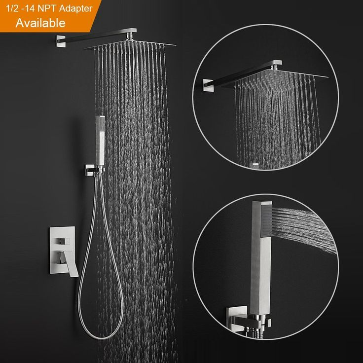 shower system with rainfall shower head and handheld shower heads stainless steel wall mounted rain mixer - Fantastisch Bing Steam Shower