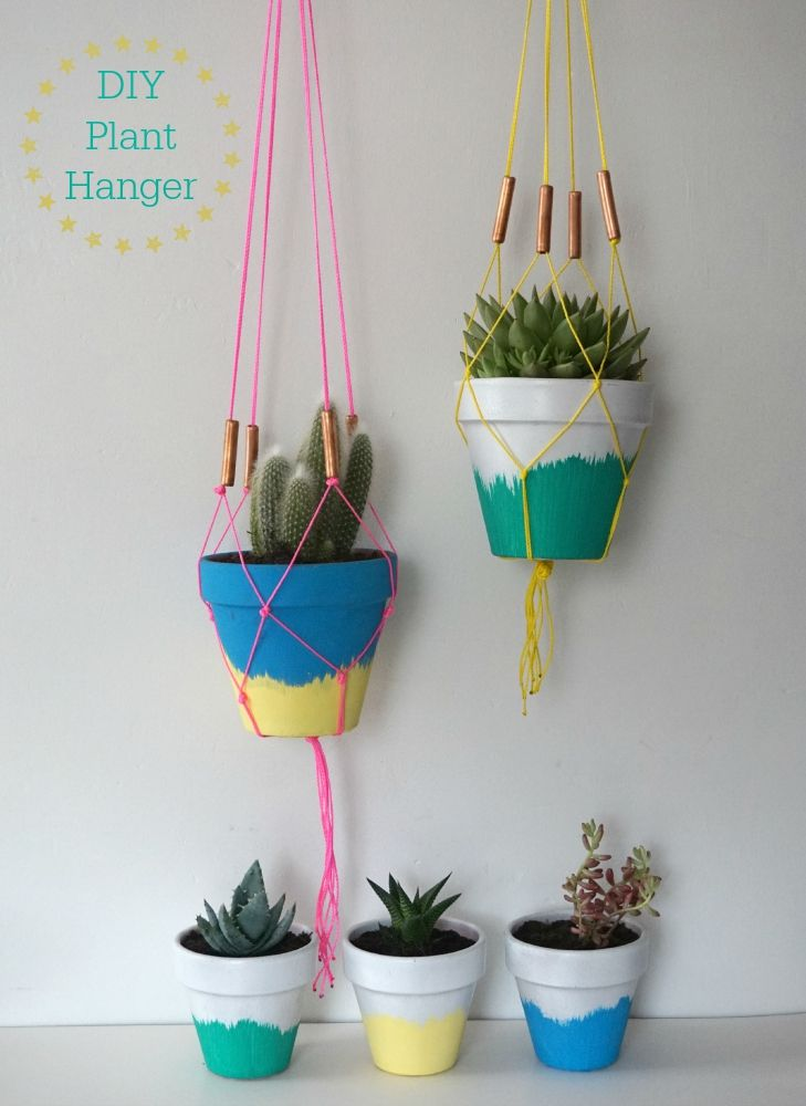 DIY Succulent Planters and Macrame Hangers Tutorial - Love Chic Living