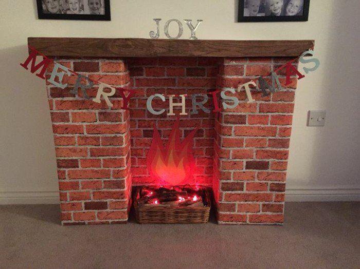 40 id es de fausse chemin e pour no l bricolage pinterest christmas christmas fireplace. Black Bedroom Furniture Sets. Home Design Ideas
