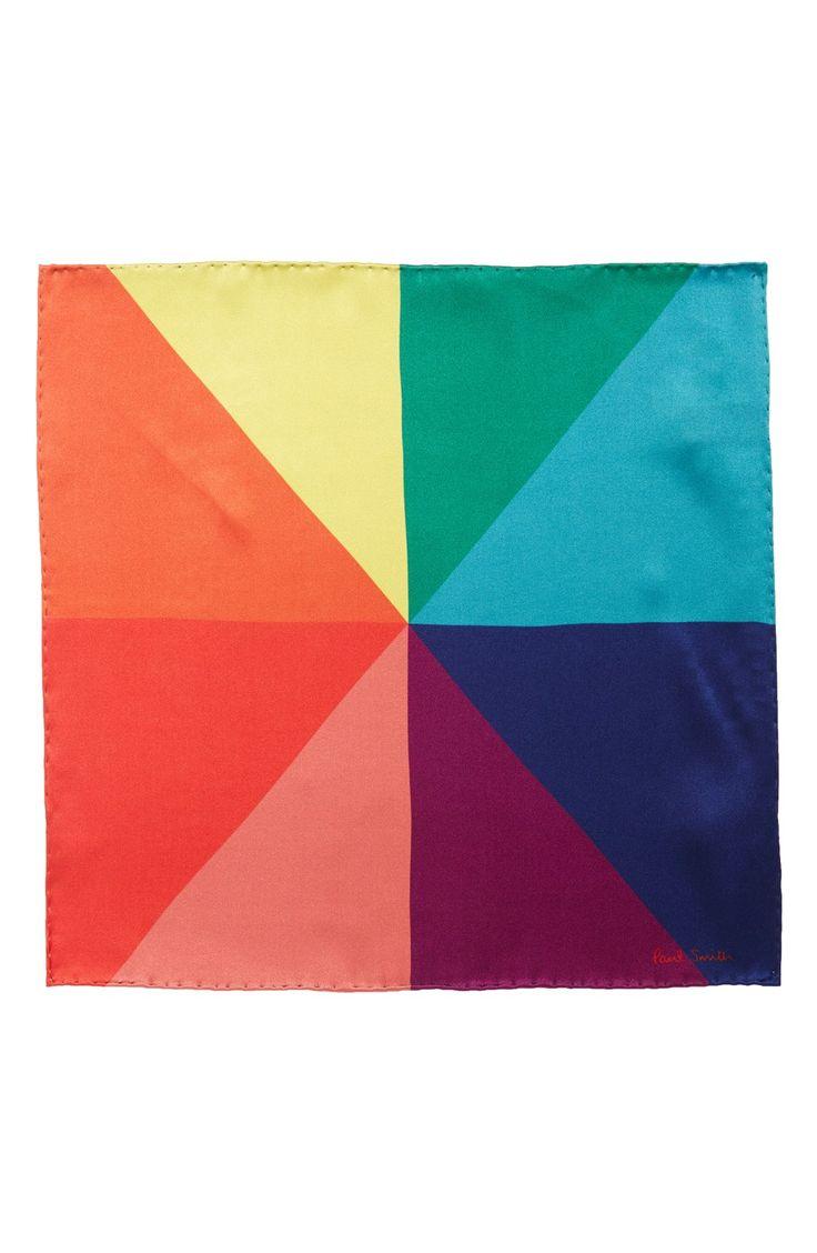 Paul Smith 'Kaleidescope' Silk Pocket Square