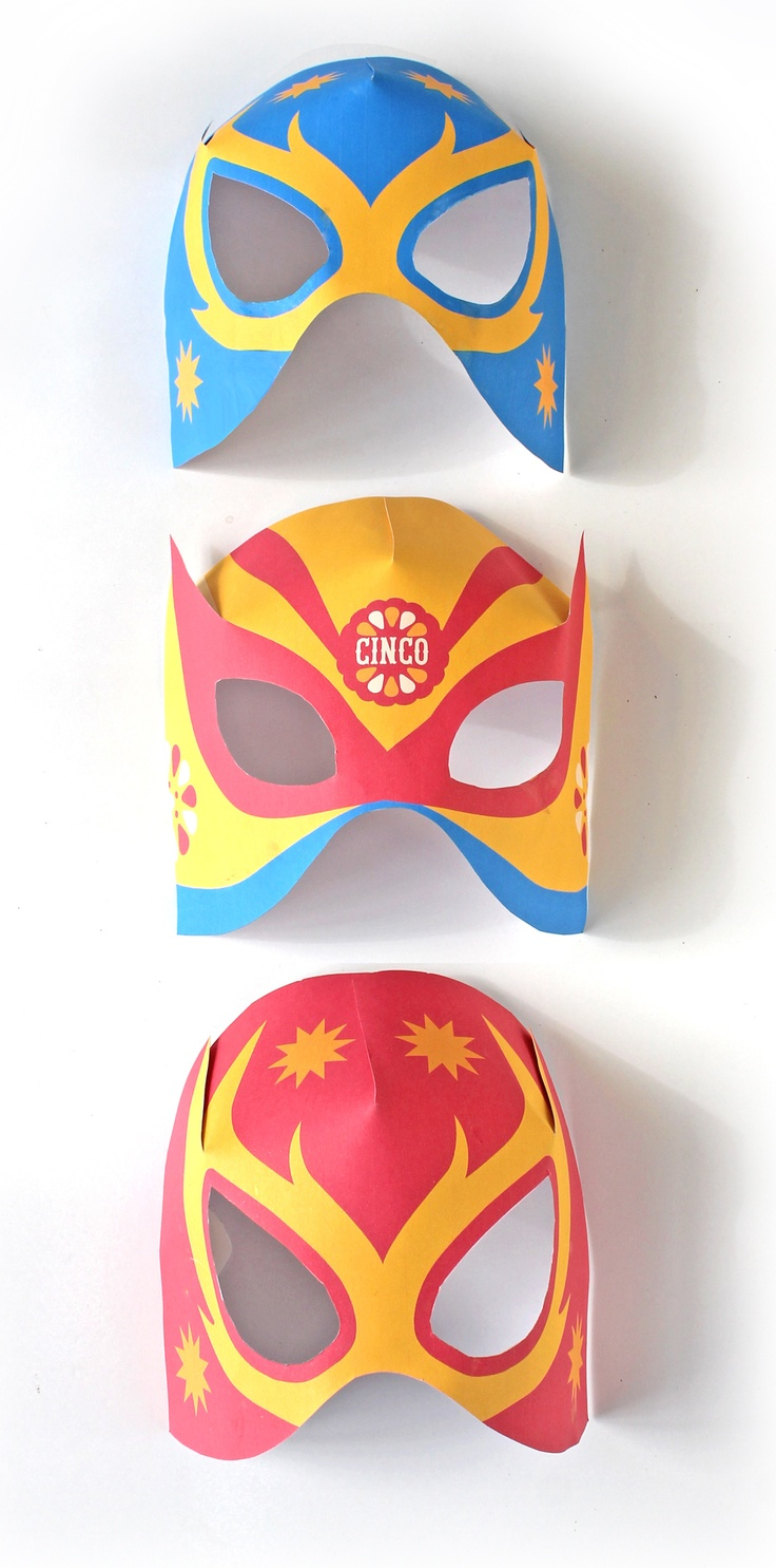 Make a Lucha Libre mask video: Using clothes from home make a bright colored…