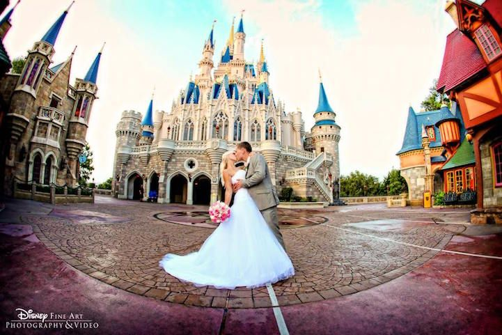 """""""A dream is a wish your heart makes,"""" says Cinderella—and for engaged couples with a particular soft spot for the princess' story, that wish just might come true. Disney Weddings has recently announced a newly sanctioned wedding venue at its Florida resort: the East Plaza Garden, which sits at the end of Magic Kingdom Park's Main Street, just in front of Cinderella's castle. Though fairytale fanatics have held weddings at Disney World for years, the Railroad Train Station is the only other…"""