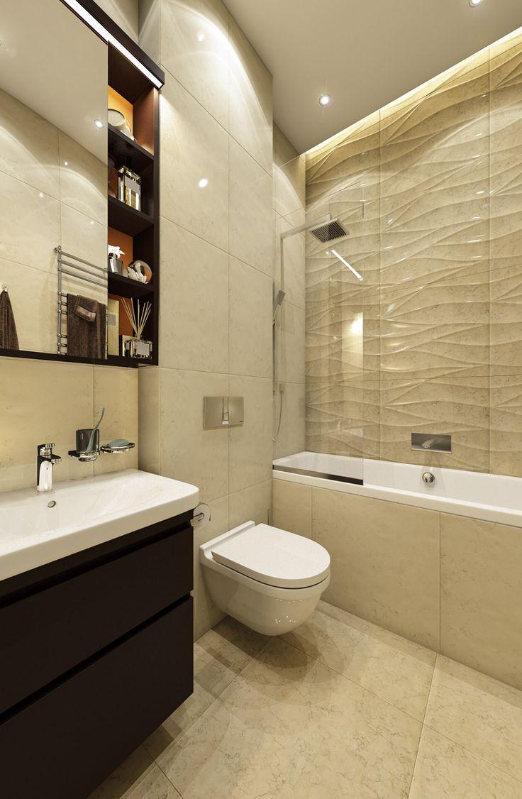 Дизайн апартаментов ЖК Balchug Residence. Ванная 2. Вид 2 #аркси #arxy #дизайнинтерьера #элитныйинтерьер #дизайнквартиры #ванная