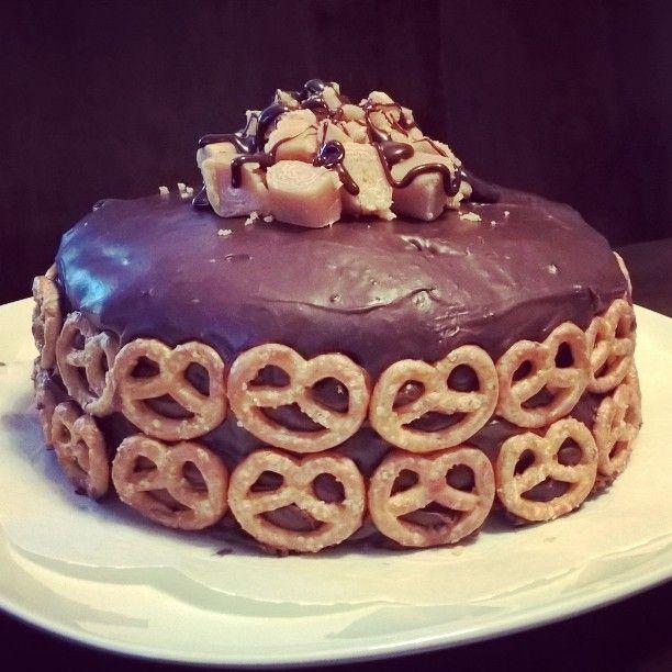 Salt caramel chocolate cake