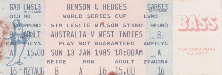 Australia vs West Indies, GABBA, Brisbane, 1985.