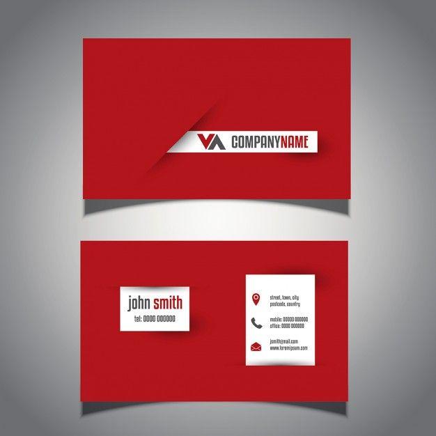 Современные визитные карточки с эффектным дизайном Бесплатные векторы
