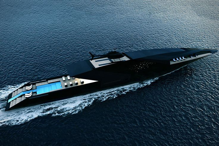 Inspired by the shape of an arrow, the Black Swan Superyacht is a sleek a vessel as you'll find. The aluminum exterior is done in black, a color that's extended throughout the ship, with different textures and finishes the main...