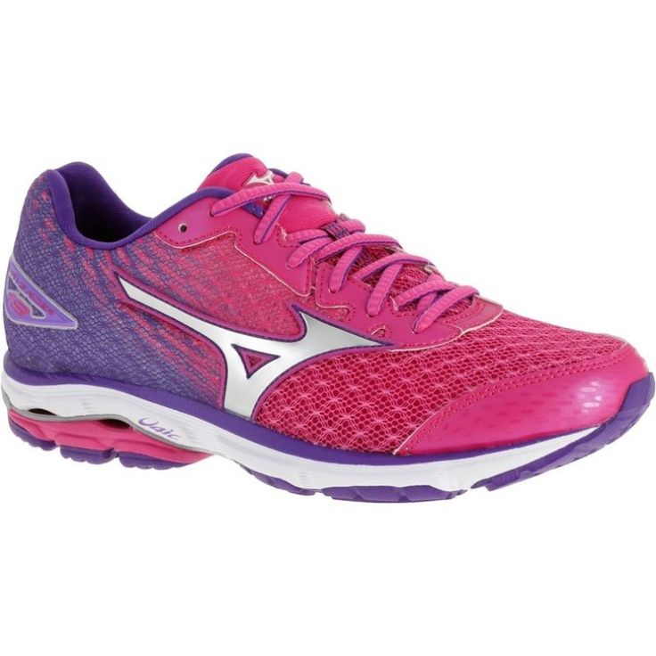 Mizuno Wave Rider Running Shoes: Pink running shoes for neutral runners. There's a women's version and men's version of the Wave Rider. Popular running shoes for long distance running workouts for all distances beginner 5K to marathon training. Also comfortable workout shoes for general gym workouts or home fitness exercises!