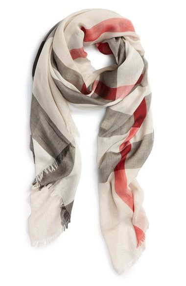 Burberry Brit Sheer Mega Check Scarf available at #Nordstrom
