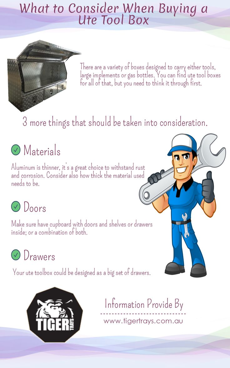 There are various things need to be considered before purchasing a Ute toolbox, such as quality of material. To Know more about, go through this infographic.