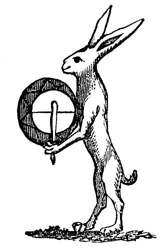 Ostara - The Hare & Tabor image from The  Symbolism of Rabbits and Hares by Teri Windling