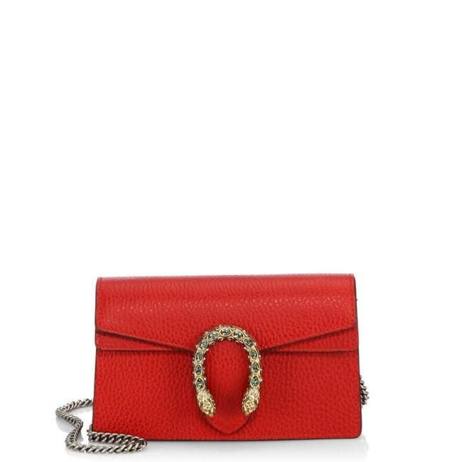 863448713 Gucci Dionysus Mini Chain Red Leather Shoulder Bag - Tradesy | $M ...