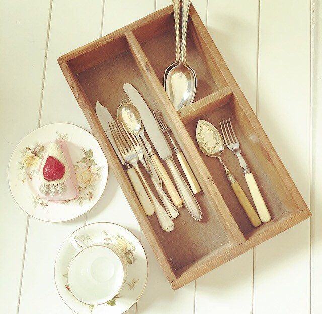 A personal favourite from my Etsy shop https://www.etsy.com/uk/listing/515841831/cutlery-box-vintage-wooden-cutlery