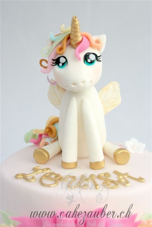 Unicorn Caketopper Modelling Paste Birtday Cake Topper For