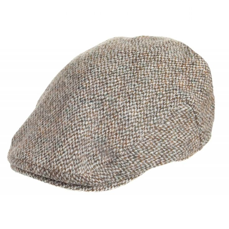Failsworth Hats Harris Tweed Flat Cap - Beige/Khaki from Village Hats.