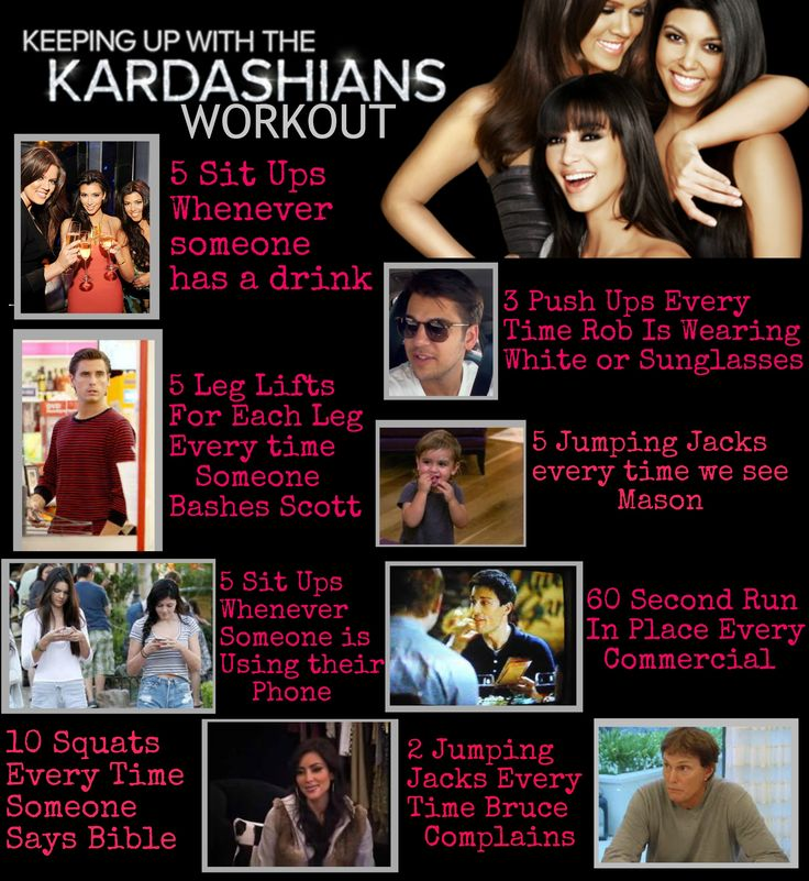 Keeping up with the Kardashians workout - you'll get fit in NO