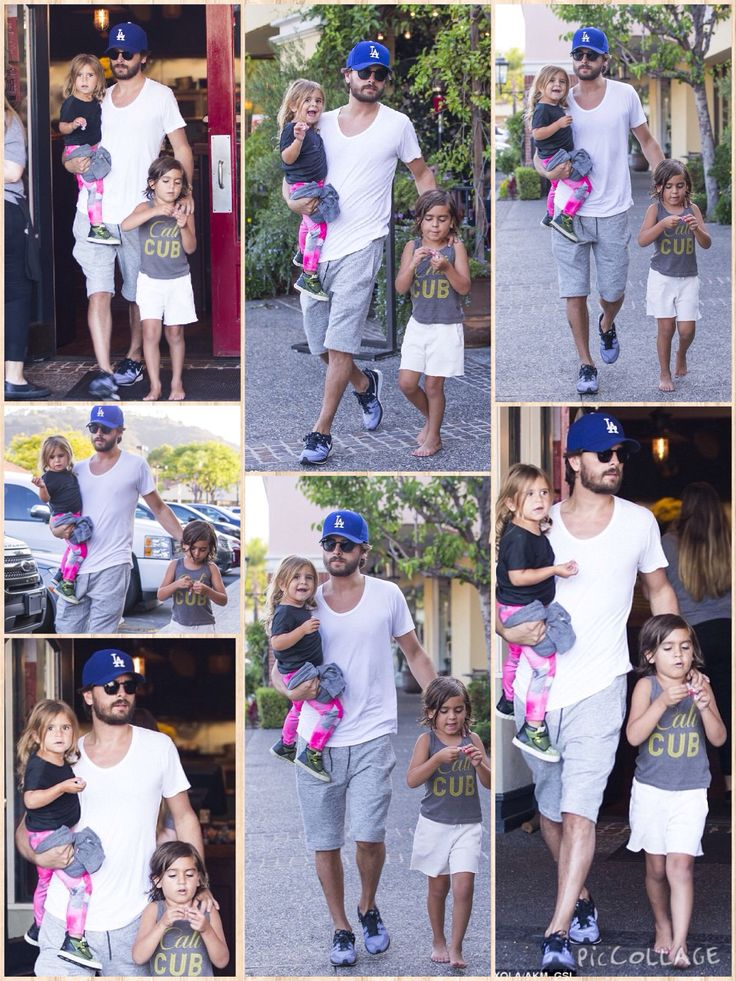 Scott Disick back on Daddy duty, taking his son Mason, five, and daughter Penelope out for dinner at their favourite restaurant
