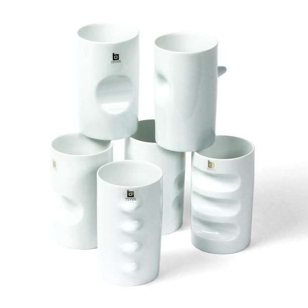 Masahiro Mori Assorted Cups Set white, tabletop, masahiro mori. I have the whole set.