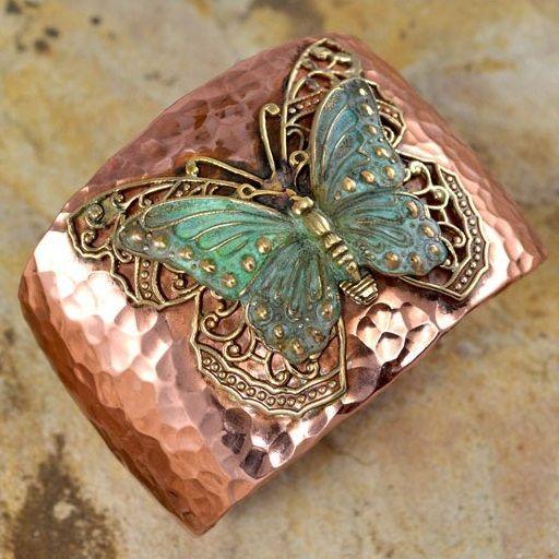 Butterfly with Filigree Cuff Bracelet
