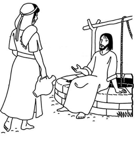 clipart jesus and the woman at the well - photo #30