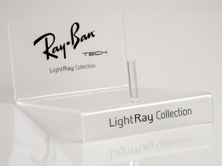 Slick looking P.O.S designed by PLANarama for Luxottica's Ray-Ban brand