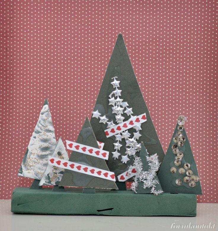 enkelt julpyssel, julgran, julpyssla med småbarn
