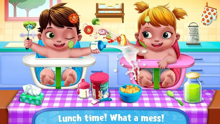 Fun Care Kids Game - Baby Twins Babysitter - Play Dress Up, Care & Bath ...