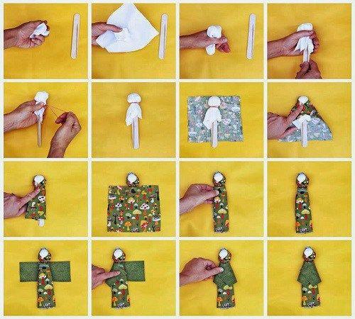 Membuat Boneka Berkerudung Tanpa Jahitan dari Kain Perca   Zona Kreatif