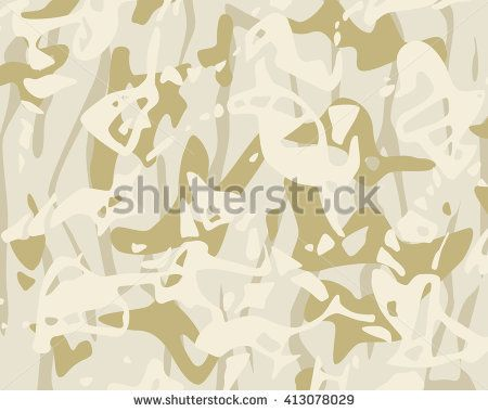 Vector realistic camouflage pattern background editable. Desert badlands sand dirt camouflage pattern texture - stock vector