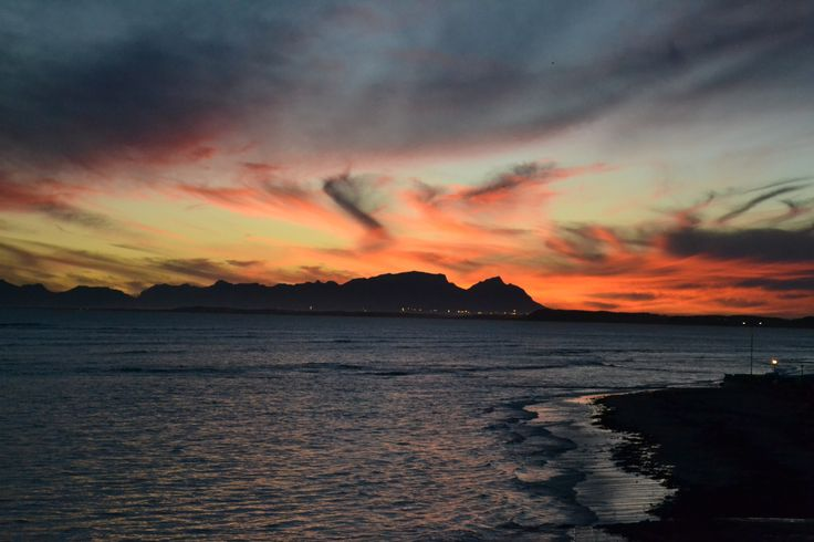 This is in South Africa 2013, I was in my hotel room watching this sunset. I was in a town called The Strand. :D Michaela Ana Gambella