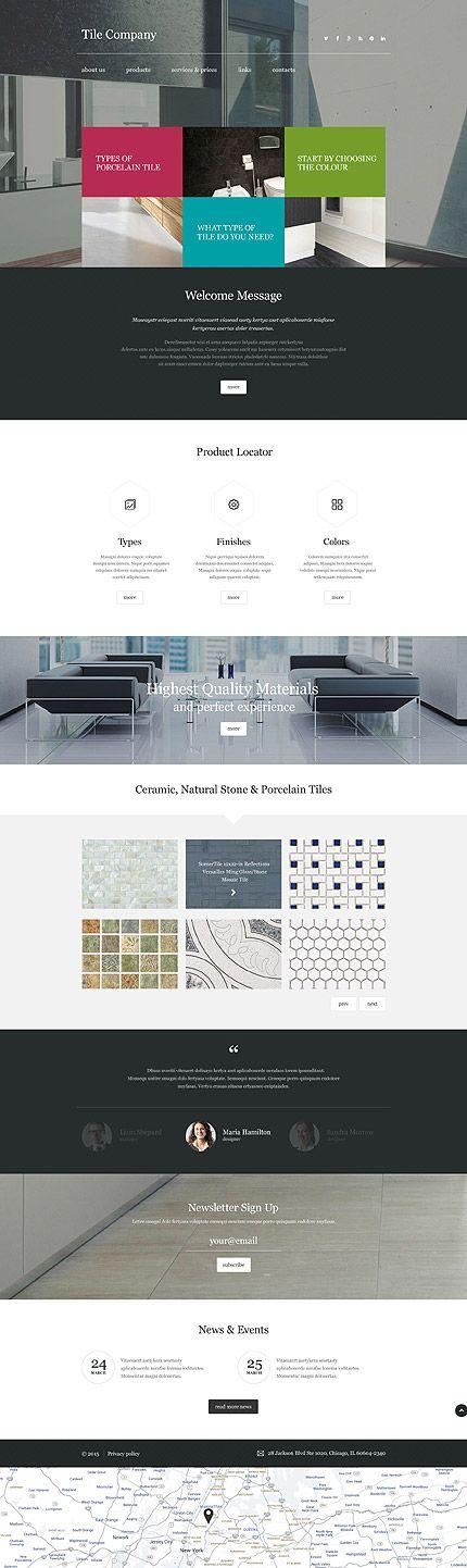 1282 best Website Design Inspiration images on Pinterest Design - interior design web template