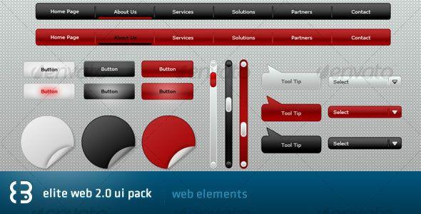 Elite Web 2.0 UI Pack - #User #Interfaces #Web #Elements Download here: https://graphicriver.net/item/elite-web-20-ui-pack/38747?ref=alena994