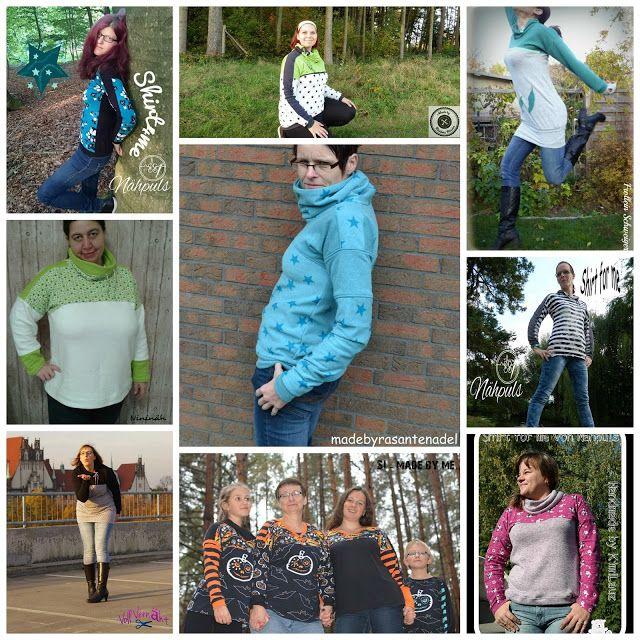 Freebook  Shirt for me 32 -54, tolles Shirt mit vielen Varianten, kurz, lang, mit Schultereinsätzen, Loopkragen, Daumenloch usw.