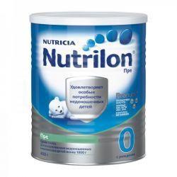 Нутрилон Пре 0 смесь сухая молочная для детей 400г  — 941р. ---- Детская смесь РRE-NUTRILON – полноценная молочная смесь для питания недоношенных и маловесных детей с рождения до 12 месяцев. Детская молочная смесь Нутрилон Пре обладает высокой энергетической ценностью за счет повышенного содержания белка и жира. Смесь содержит необходимые витамины и минеральные вещества в количествах, рекомендованных для данной группы детей. Обогащена таурином, имеет идеальное соотношение Са:Р=2:1…