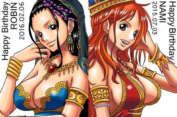 One Piece, Straw Hat Pirates, Nami, Robin