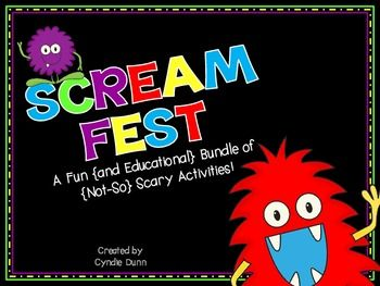 Scream Fest - A Fun {and Educational} Bundle of {Not-So} Scary Activities (includes the popular Things That Make Me Scream Craftivity).