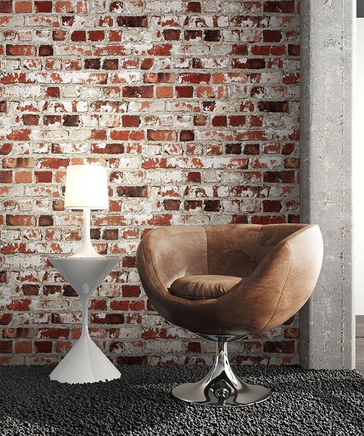 steintapete rot wei rustikal natur stein sch ne edle tapete im steinmauer loft design. Black Bedroom Furniture Sets. Home Design Ideas