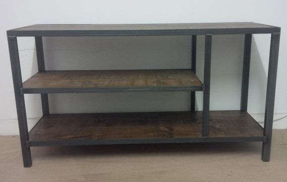 Industrial style TV unit by ppmwoodshop on Etsy