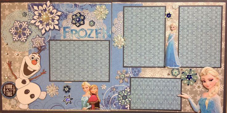 Frozen Scrapbook layout