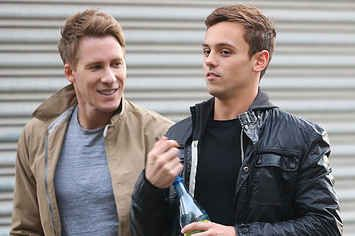 Tom Daley Touching Dustin Lance Black's Butt Is Somehow Really Precious