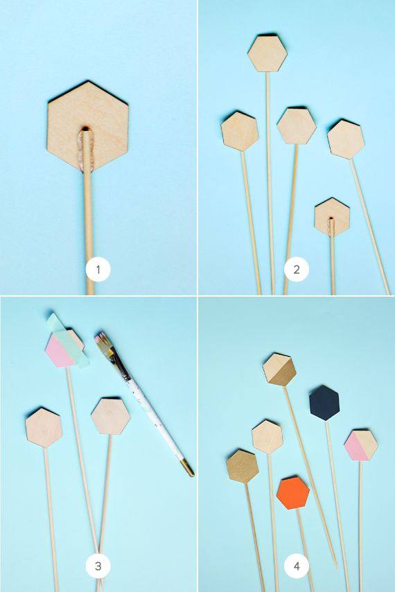 Easy Geometric Cake Toppers | Julep