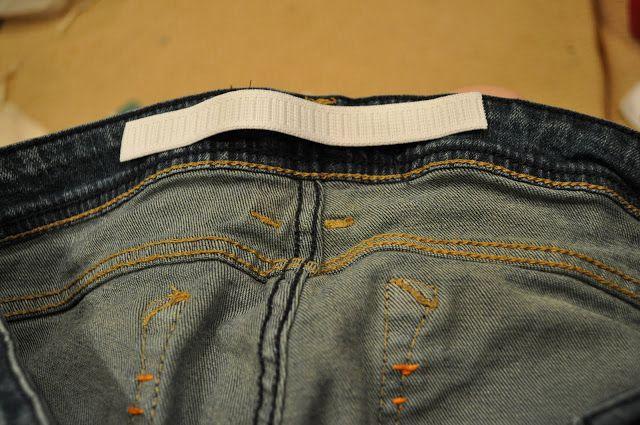 Alternative to unpicking the waist when resizing jeans/pants. I Am Momma - Hear Me Roar: Crack Kills