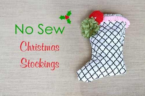 No-Sew Christmas Stocking - #DIY #projectnursery