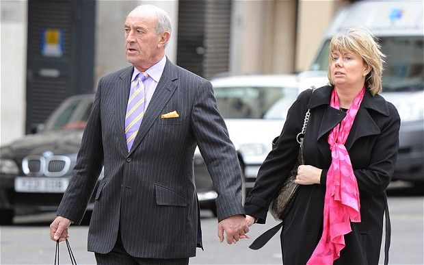 Dancing with the Stars judge Len Goodman with wife Sue Barrett...love the hand holding...sweet.