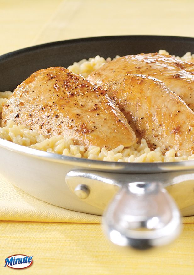 15 Minute Chicken and Rice Dinner: The best chicken-and-rice recipe that's quick, easy, and delicious.