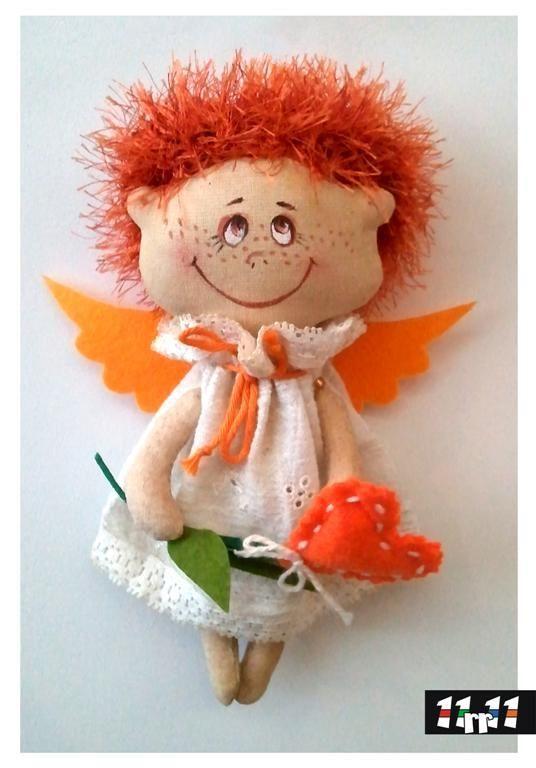 Купить Ангел Валька - рыжий, ангел, талисман, подарок на любой случай, День Святого Валентина