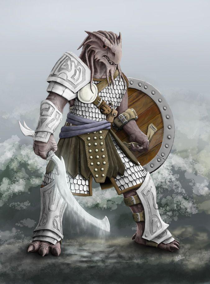 Dragonborn Fighter | 2009: Ravex by carakav
