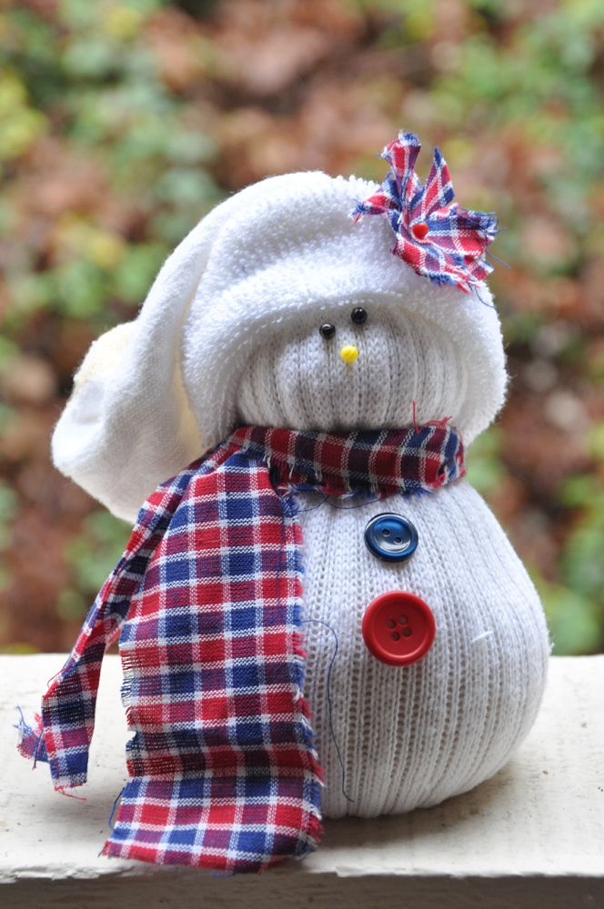 Oscuro Cuarto y Queridos: {décimo Día de navidad: muñecos de nieve calcetín}