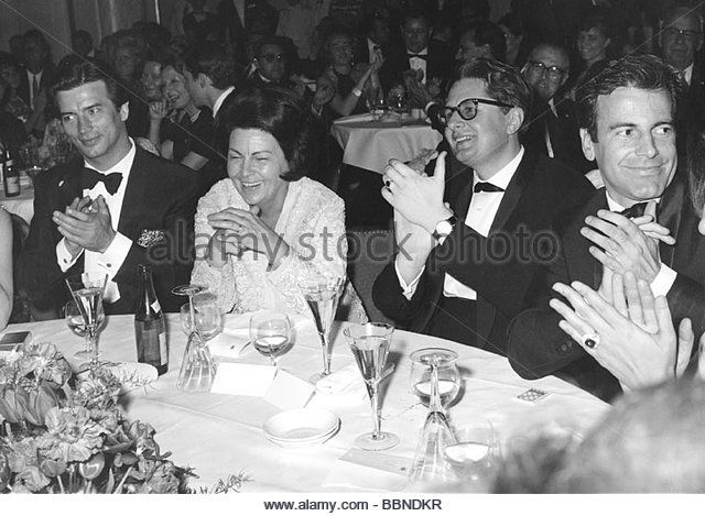 Burda, Anna Magdalene 'Aenne', 28.7.1909 - 3.11.2005, German publisher, portrait, group picture, with Pierre - Stock Image